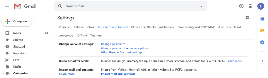 Gmail Import Mail